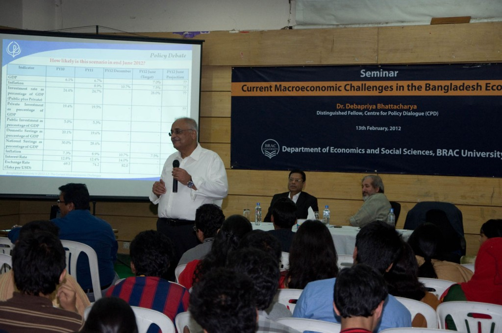 CPD Organised Special Lecture Series on Bangladesh Economy for University Students